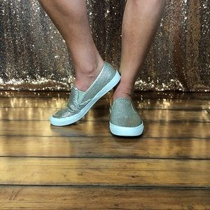 Silver Metallic Sperry's